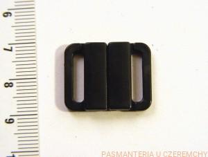 c9d6c46aa73608 zapięcie do stroju kąpielowego - 14 mm, kolor czarny /bieliźniarskie, do  biustonosza/